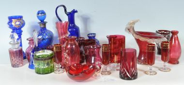 COLLECTION OF BOHEMIAN AND OTHER ANTIQUE GLASSWARE