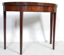 18TH CENTURY GEORGE III DEMI LUNE GAMES CARD TABLE