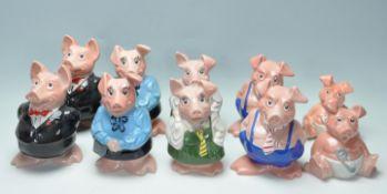 COLLECITON OF TEN VINTAGE LATE 20TH CENTURY CERAMIC NATWEST PIGS