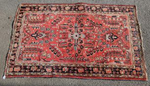 MID 20TH CENTURY PERSIAN ISLAMIC BIDJAR / BIJAR CARPET RUG