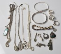 LARGE COLLECTION OF STAMPED .925 SILVER JEWELLERY