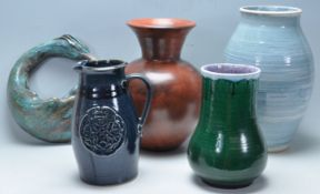 COLLECTION OF ANTIQUE AND LATER STUDIO ART POTTERY