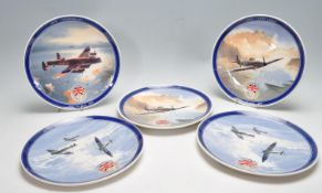 FIVE WEDGWOOD VE DAY COLLECTORS PLATES