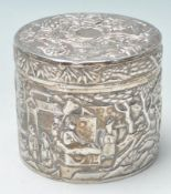 CHINESE STYLE CONTINENTAL SILVER JAR