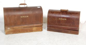 TWO VINTAGE 20TH CENTURY SINGER SEWING MACHINES