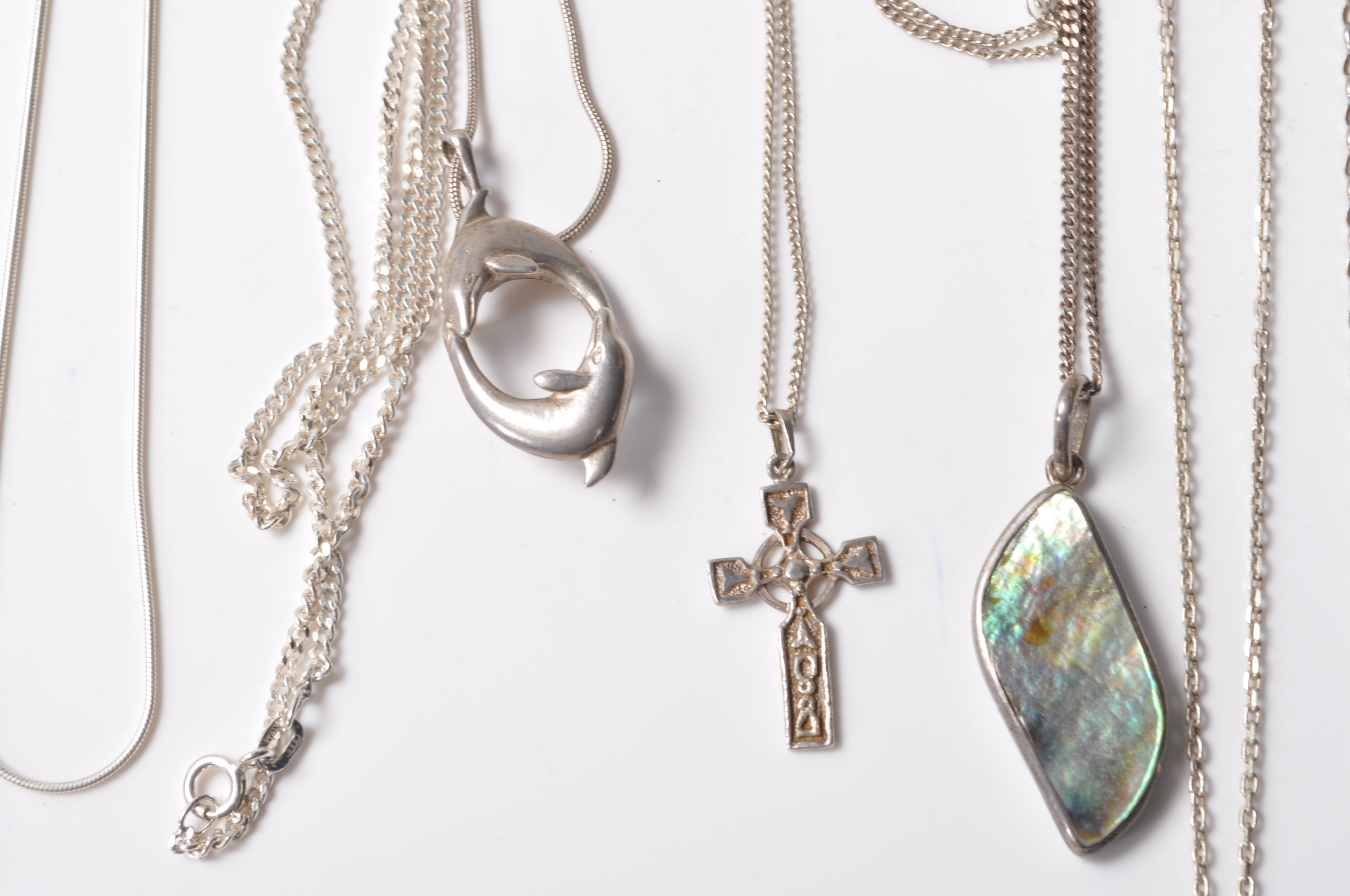 COLLECTION OF STAMPED 925 SILVER NECKLACES AND PENDANTS. - Image 3 of 12
