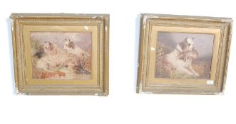 PAIR OF 19TH CENTURY VICTORIAN HUNTING DOG PRINTS