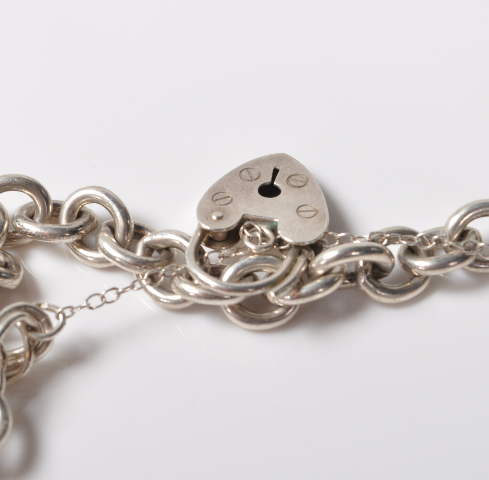 SILVER STAMPED 925 CHARM BRACELET. TOTAL WEIGHT 64 GRAMS. - Image 5 of 8