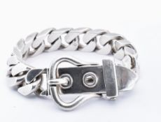 FRENCH SILVER BUCKLE BRACELET