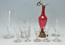 COLLECTION OF ANTIQUE AND LATER DRINKING VESSELS