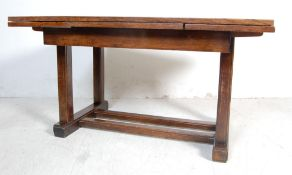 ANTIQUE EARLY 20TH CENTURY OAK EXTENDABLE DINING TABLE AND CHAIRS