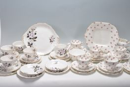 TWO VINTAGE TEA SETS INCLUDING ROYAL ALBERT AND AYNSLEY