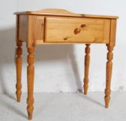 VICTORIAN STYLE PINE WRITING TABLE, VANITY STAND & OTHER