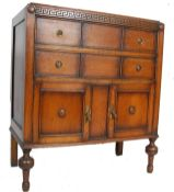 1920'S JACOBEAN REVIVAL OAK TALLBOY / CHEST OF DRAWERS
