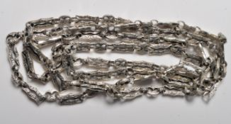STAMPED .925 SILVER FANCY CHAIN IN THE ALBERT STYL