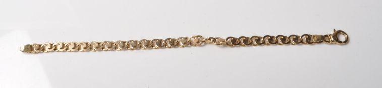 9CT GOLD ROUND FANCY LINK BRACELET