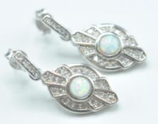 PAIR OF ART DECO STYLE STAMPED .925 STERLING SILVE