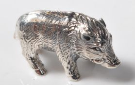 STAMPED STERLING SILVER MINIATURE TRUFFLE PIG