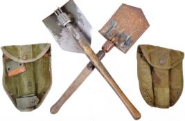 WWII SECOND WORLD WAR US ARMY ENTRENCHING TOOLS / SHOVELS