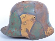 ORIGINAL WWI FIRST WORLD WAR GERMAN M16 STEEL HELMET