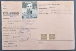 WWII SECOND WORLD WAR GERMAN SA MEMBERSHIP BOOK