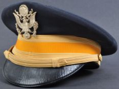 20TH CENTURY US CAVALRY OFFICER'S BANCROFT UNIFORM PEAKED CAP