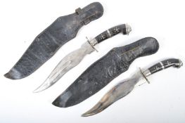 TWO INDIAN CEREMONIAL DRESS KUKRI STYLE KNIVES