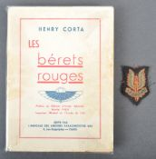 RARE WWII FRENCH AIRBORNE ' LES BERETS ROUGES ' BOOK