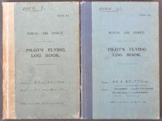 WWII SECOND WORLD WAR INTEREST PILOT'S FLYING LOG BOOKS