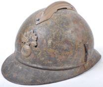 WWI FIRST WORLD WAR FRENCH ADRIAN STEEL UNIFORM HELMET