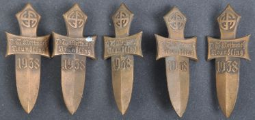 COLLECTION OF X5 AUSTRIAN THIRD REICH RALLY PINS