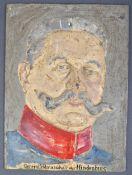 WWI FIRST WORLD WAR IMPERIAL GERMAN CAST IRON HINDENBURG PLAQUE