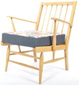 LUCIAN ERCOLANI FOR ERCOL MODEL 567 BEECH AND ELM EASY ARMCHAIR