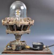G.E.C EARLY 20TH CENTURY ENGLISH MINERS LAMP LIGHT