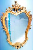 ANTIQUE STYLE ROCOCO INFLUENCE WALL MIRROR