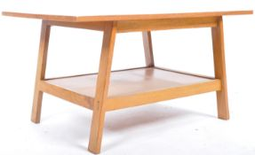 20TH CENTURY ARTS AND CRAFTS STYLE LIGHT OAK COFFEE TABLE