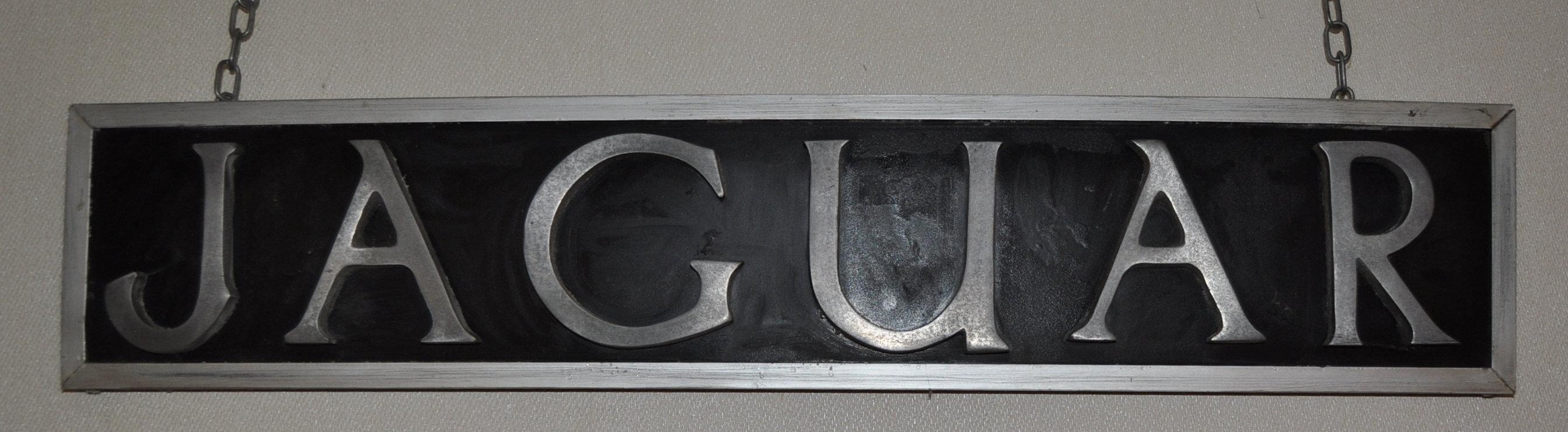 JAGUAR - RARE 1930S DEALERSHIP SHOWROOM ADVERTISING SIGN