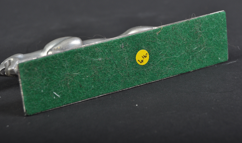 JAGUAR MASCOT - 20TH CENTURY BRASS LEAPER ON BASE - Image 4 of 4