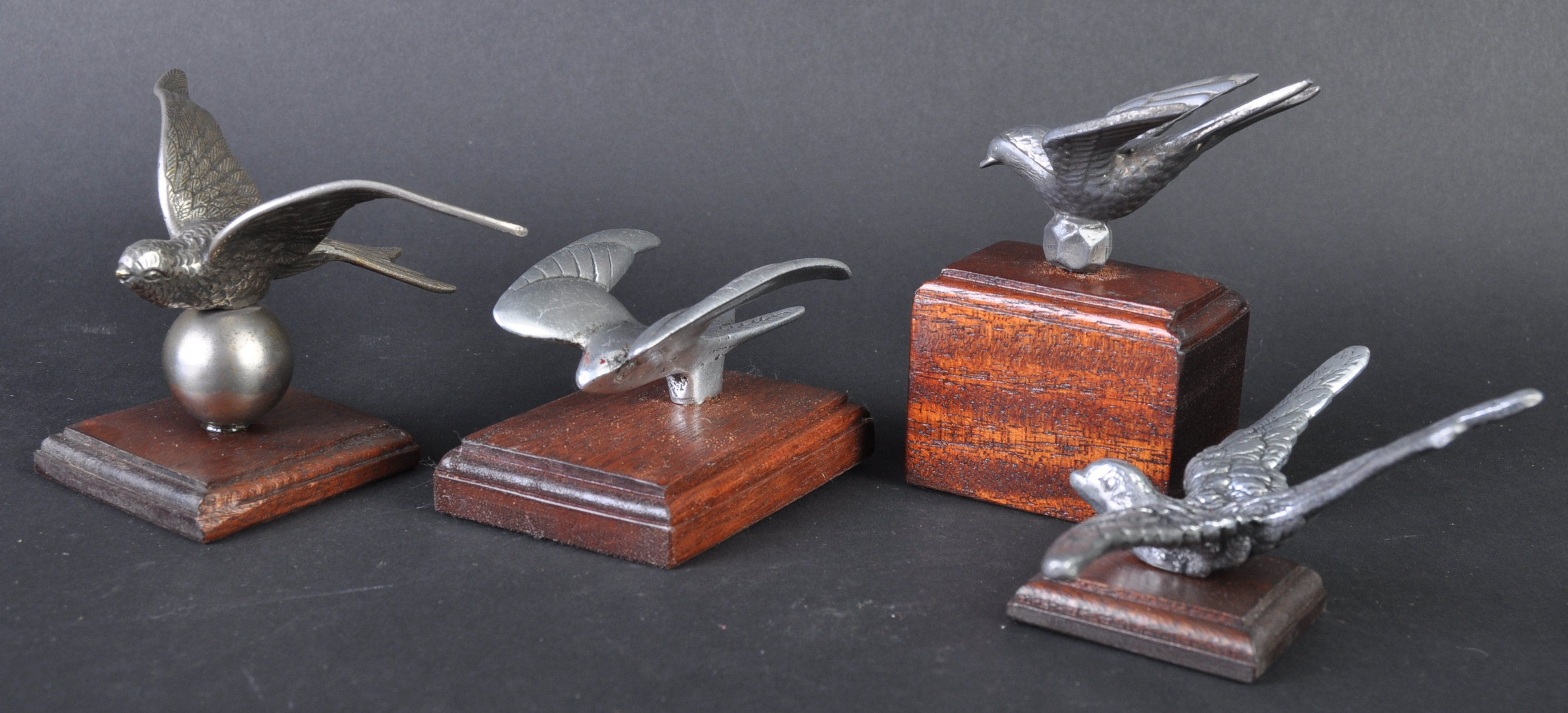 CAR MASCOTS - COLLECTION OF SWALLOW CAR MASCOTS