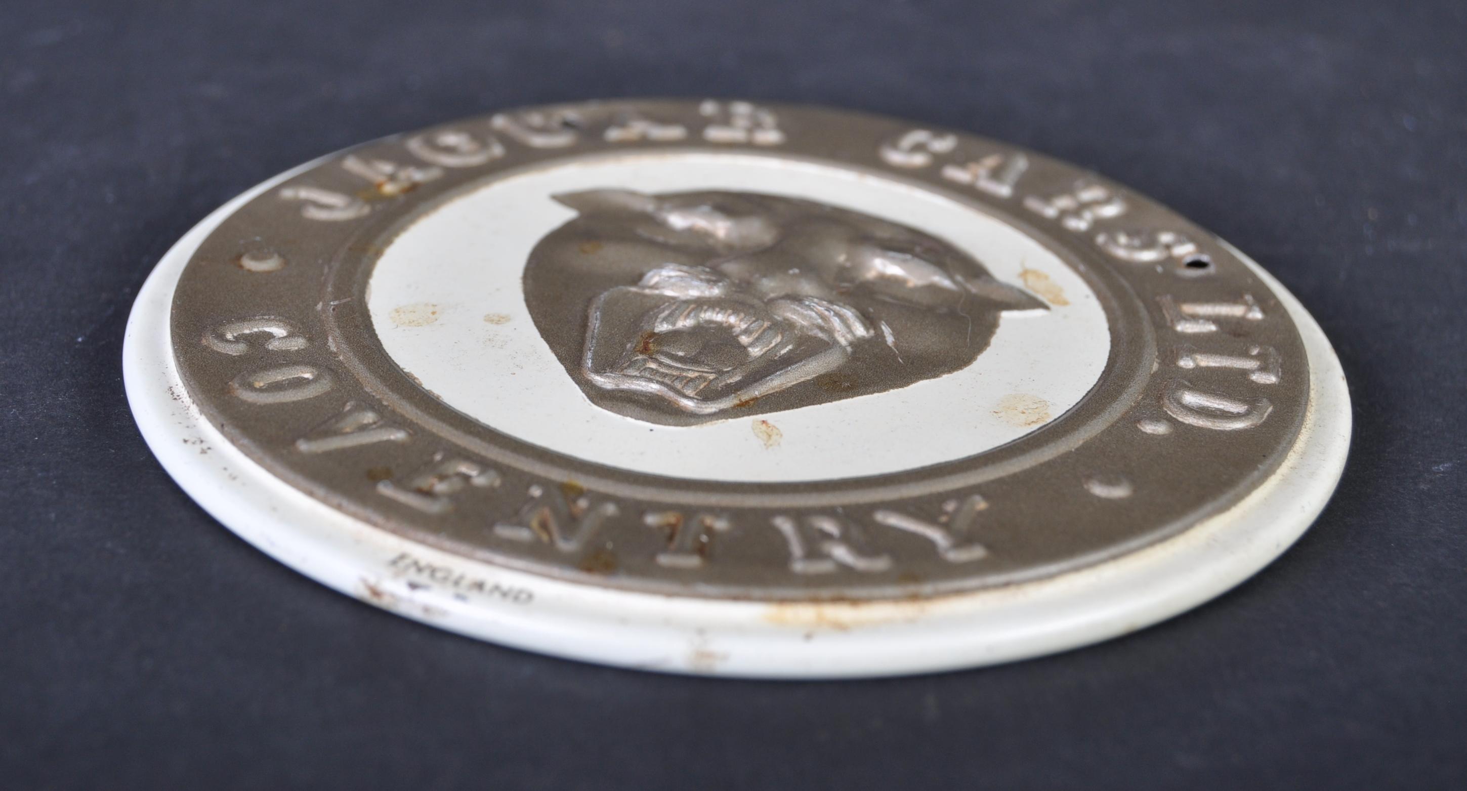 JAGUAR - 1950S AMERICAN CEREAL WHEATIES TIN EMBLEM - Image 2 of 3