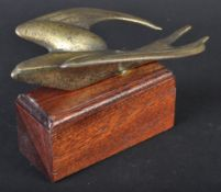 CAR MASCOT - ORIGINAL VINTAGE BRONZE SWALLOW BIRD MASCOT