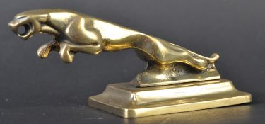 JAGUAR MASCOT - ORNAMENTAL LEAPER ON BRASS BASE