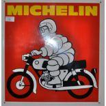 MICHELIN TYRES - ORIGINAL VINTAGE ENAMEL SCOOTER SIGN