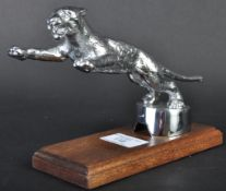 DESMO CAR MASCOT - REPLICA CHROME LEAPING CAT