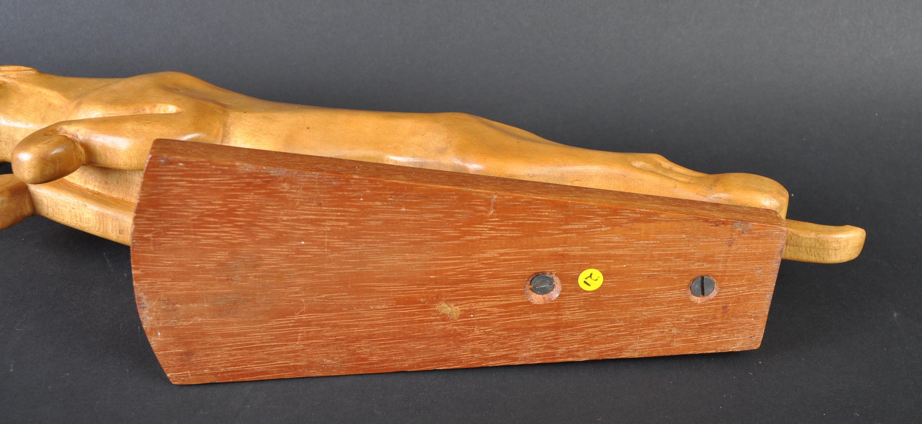 JAGUAR - LARGE CARVED JAGUAR WOODEN LEAPER MASCOT - Image 4 of 4