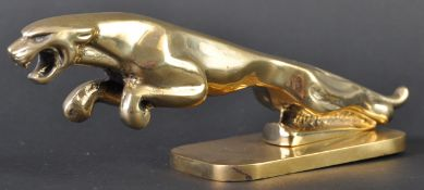 JAGUAR MASCOT - ORNAMENTAL TYPE 2 LEAPER ON BRASS BASE