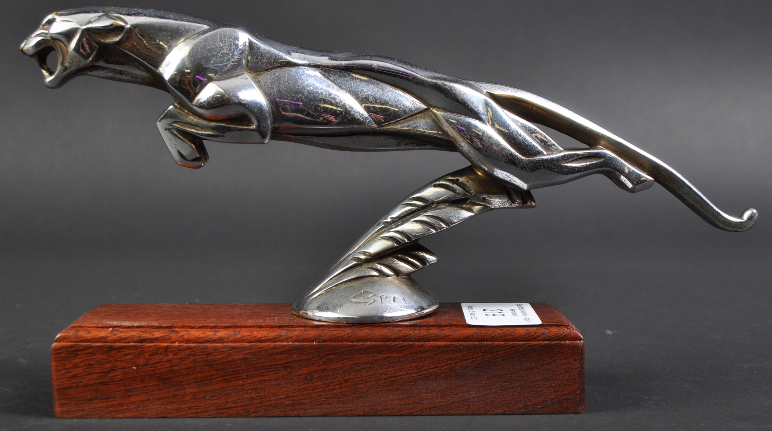 C1920S ' LEAPING JAGUAR ' CAR MASCOT BY CASIMIR BRAU - Image 3 of 6