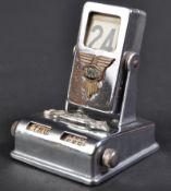 JAGUAR - RARE 1940S DESKTOP PERPETUAL CHROME CALENDAR