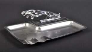 JAGUAR - STAINLESS STEEL ASHTRAY WITH LEAPER MASCOT