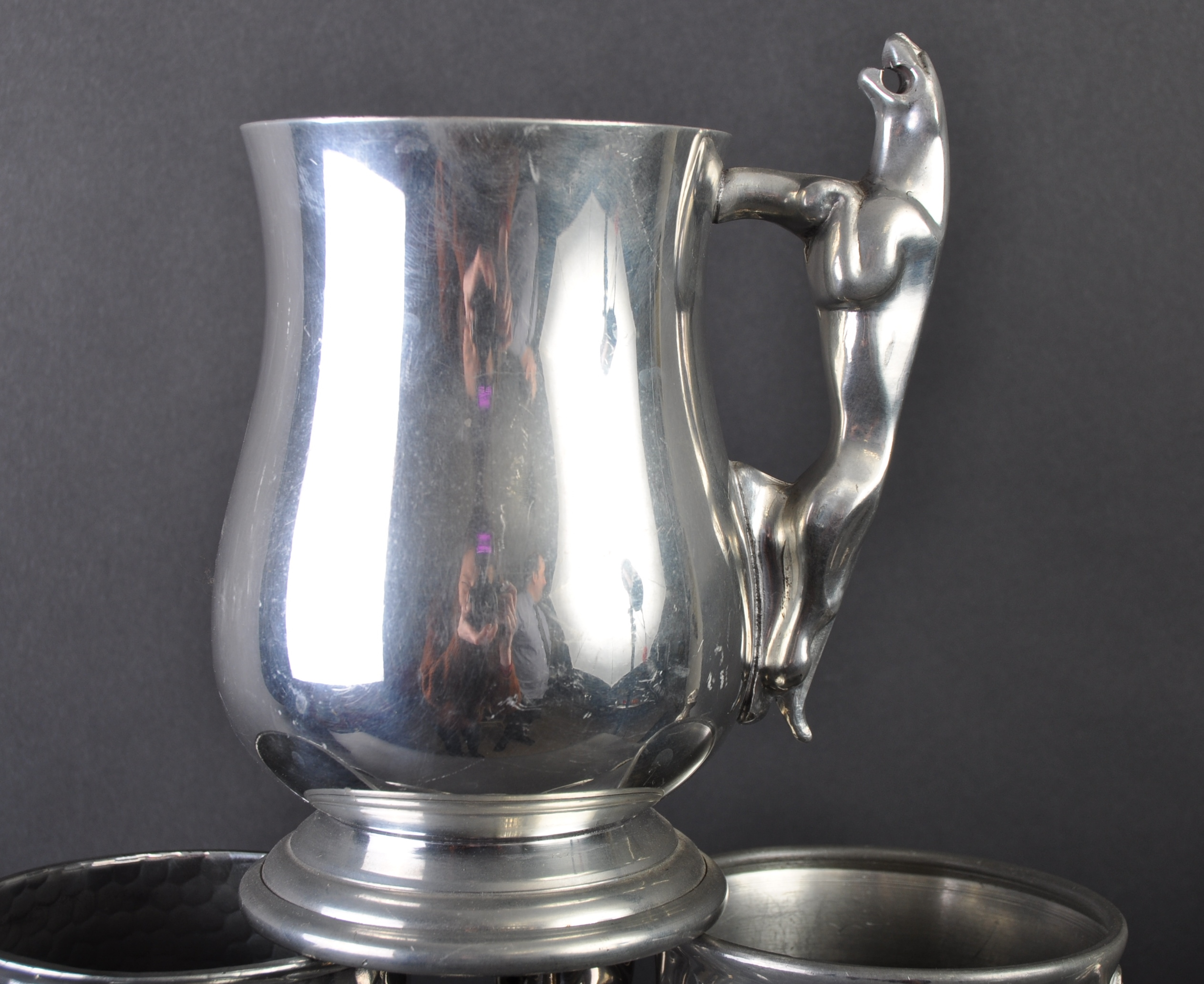 JAGUAR - COLLECTION OF SIX ORIGINAL MASCOT HANDLED PEWTER TANKARDS - Image 2 of 7